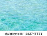 blue sea flowing water surface... | Shutterstock . vector #682745581