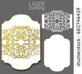 laser cut wedding invitation... | Shutterstock .eps vector #682746439