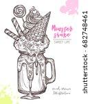 sketch of sweet freak and crazy ... | Shutterstock .eps vector #682748461
