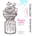 sketch of sweet freak and crazy ... | Shutterstock .eps vector #682748521