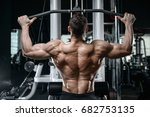 brutal strong bodybuilder... | Shutterstock . vector #682753135