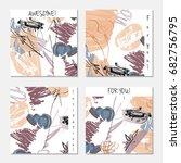 hand drawn creative invitation... | Shutterstock .eps vector #682756795