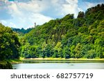 lubachowskie lake and grodno... | Shutterstock . vector #682757719
