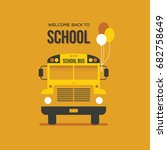 school bus front view with... | Shutterstock .eps vector #682758649