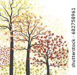 autumn multicolored forest | Shutterstock .eps vector #682758961