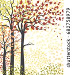 autumn multicolored forest | Shutterstock .eps vector #682758979