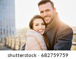 happy middle aged couple... | Shutterstock . vector #682759759