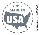 made in usa country logo.... | Shutterstock .eps vector #682760431