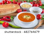 chorba soup tomato ready made... | Shutterstock . vector #682764679