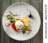 classic italian cuisine meal... | Shutterstock . vector #682765159