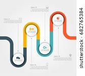 infographic design template... | Shutterstock .eps vector #682765384