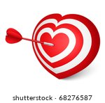 love darts   vector illustration