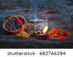 smoking herbs   Shutterstock . vector #682766284