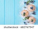 blueberry muffin   homemade... | Shutterstock . vector #682767547