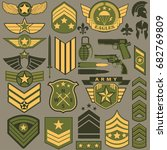 military symbol set  army... | Shutterstock .eps vector #682769809