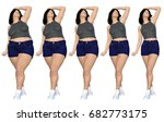 conceptual fat overweight obese ... | Shutterstock . vector #682773175