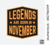 t shirt print design. legends... | Shutterstock .eps vector #682786549