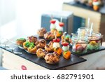 beautifully decorated catering... | Shutterstock . vector #682791901