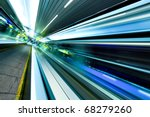 wide angle of high speed moving ... | Shutterstock . vector #68279260