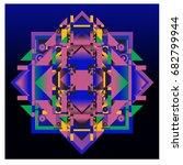 trendy geometrical kaleidoscope ... | Shutterstock .eps vector #682799944