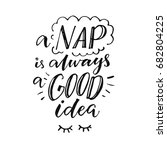 a nap is always a good idea.... | Shutterstock .eps vector #682804225