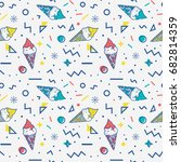summer seamless pattern with... | Shutterstock .eps vector #682814359