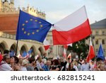 cracow  poland   july 23  2017  ... | Shutterstock . vector #682815241