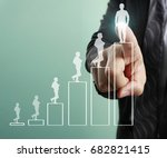 businessman with financial... | Shutterstock . vector #682821415
