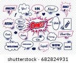 a set of comic speech bubbles... | Shutterstock .eps vector #682824931