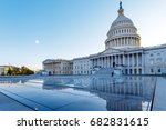 us capitol with reflection ... | Shutterstock . vector #682831615
