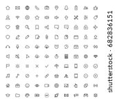 user interface symbols  line...