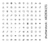 user interface symbols  line...
