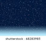 night starry sky | Shutterstock . vector #68283985