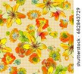 flower illustration pattern | Shutterstock . vector #682843729