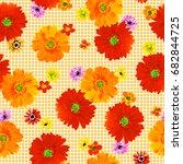 flower illustration pattern | Shutterstock . vector #682844725