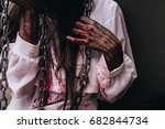 zombie woman death characters... | Shutterstock . vector #682844734