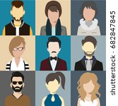 person avatars people heads... | Shutterstock .eps vector #682847845