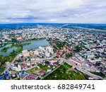 aerial view of countryside and... | Shutterstock . vector #682849741