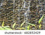 wall brick waterfall | Shutterstock . vector #682852429