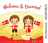 Denmark   Boy And Girl With...