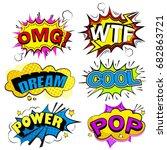 pop of cartoon speech bubble on ... | Shutterstock .eps vector #682863721