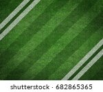 white stripe on the green... | Shutterstock . vector #682865365