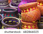 indian handicrafts made by the... | Shutterstock . vector #682866025