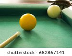 russian billiards   white balls ... | Shutterstock . vector #682867141