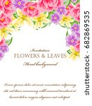 romantic invitation. wedding ... | Shutterstock .eps vector #682869535