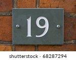 nineteen street number | Shutterstock . vector #68287294