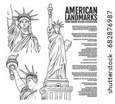 the statue of liberty hand... | Shutterstock .eps vector #682876987