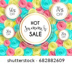 summer sale background layout... | Shutterstock .eps vector #682882609