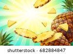 pineapple background design ... | Shutterstock .eps vector #682884847