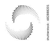 halftone dots circle texture.... | Shutterstock .eps vector #682888201